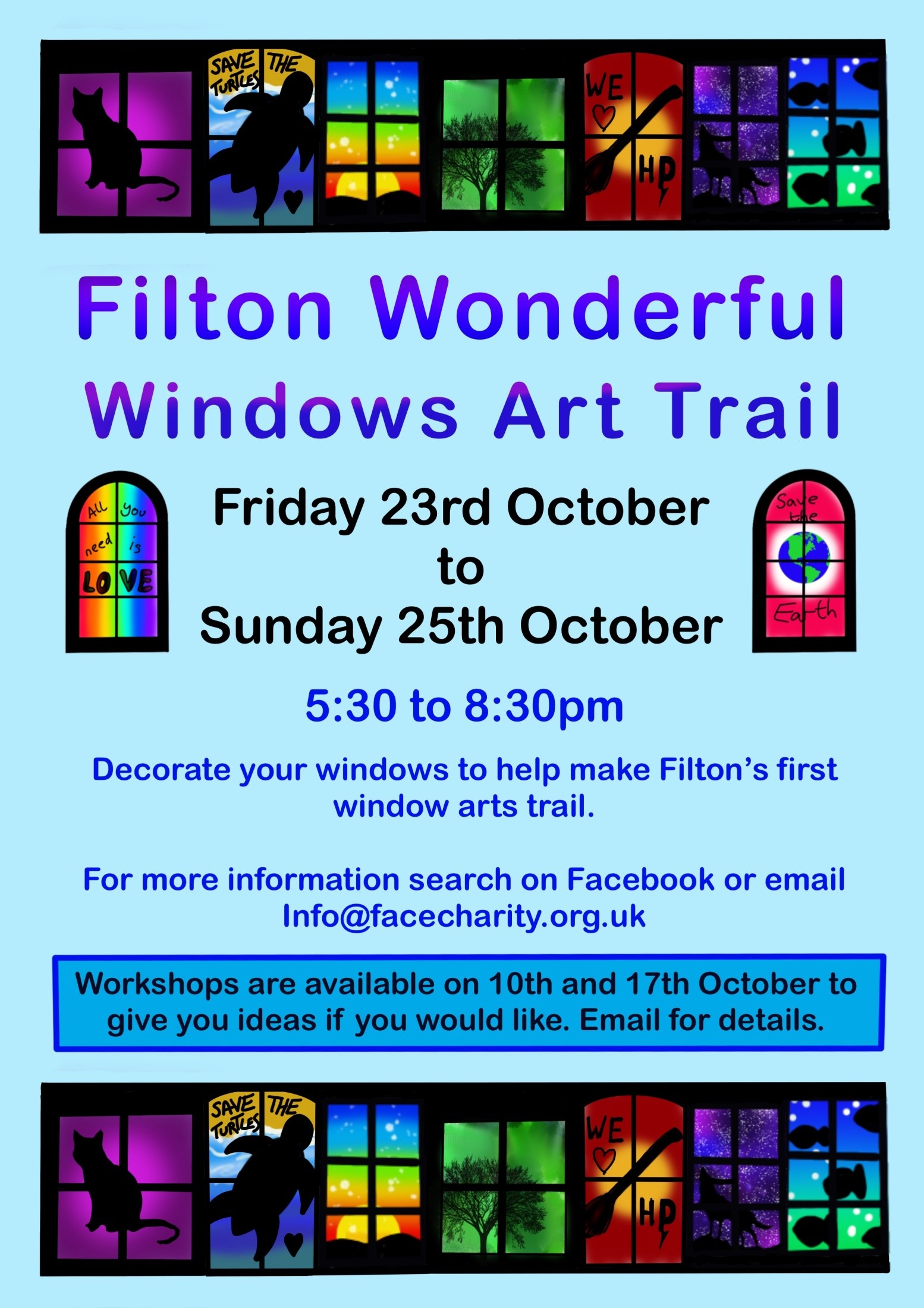 Glass act! Let's all brighten up Filton for Wonderful Windows autumn arts trail