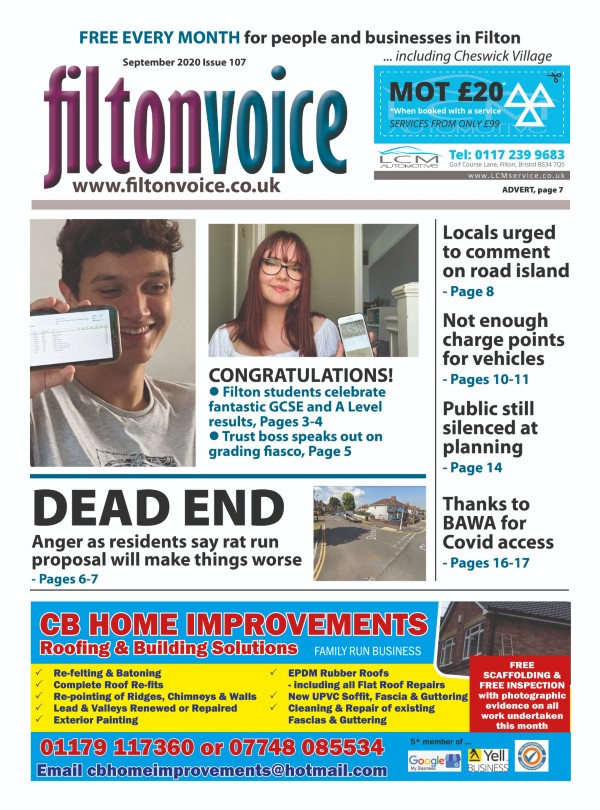 Front Page Filton Voice September