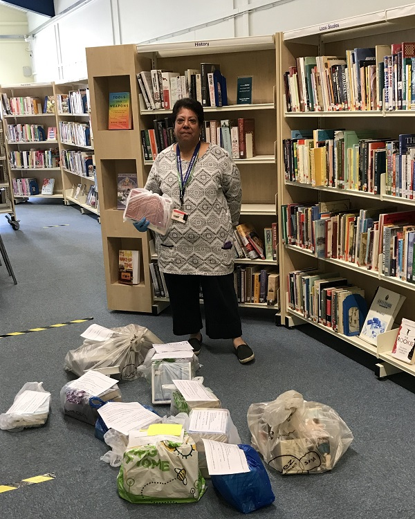 Library service delivering to elderly and vulnerable