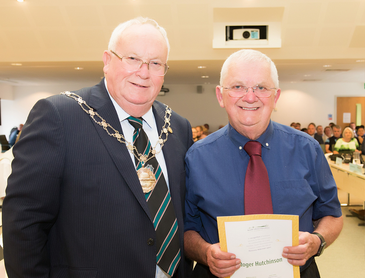 Long-serving Roger honoured by South Glos