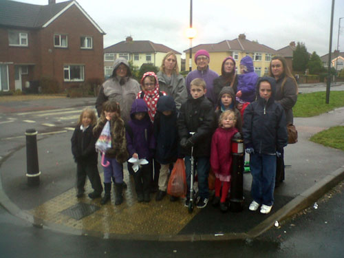 Children at risk on Filton Avenue crossing